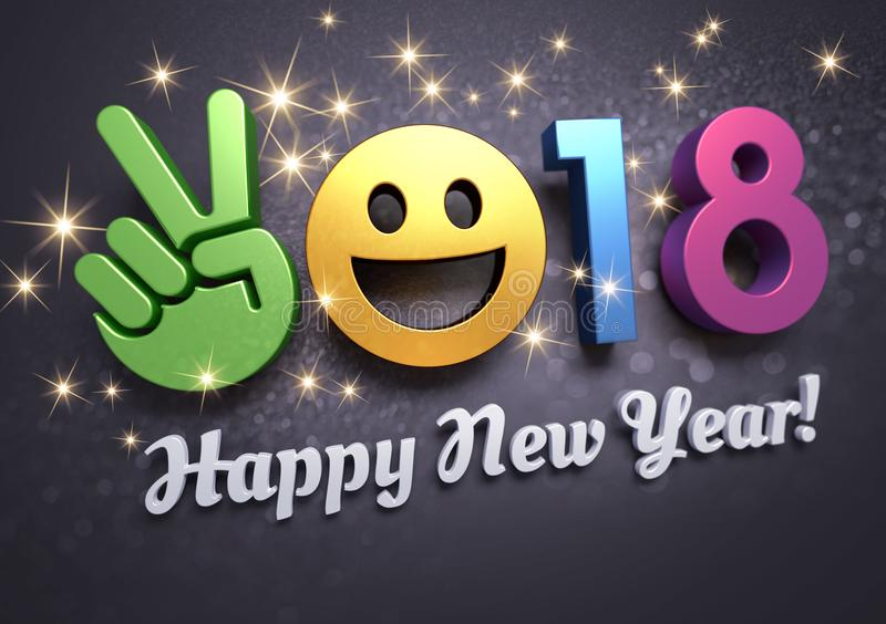 2018 kartka z pozdrowieniami dla zabawy ilustracja wektor