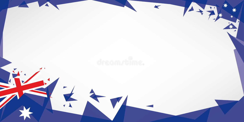 Kartka z pozdrowieniami origami Australia ilustracji