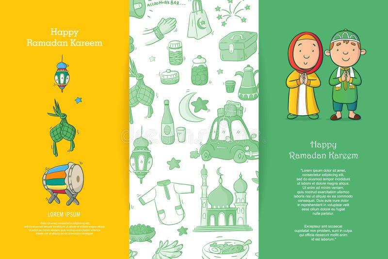 Kartka Z Pozdrowieniami Ramadan Kareem royalty ilustracja