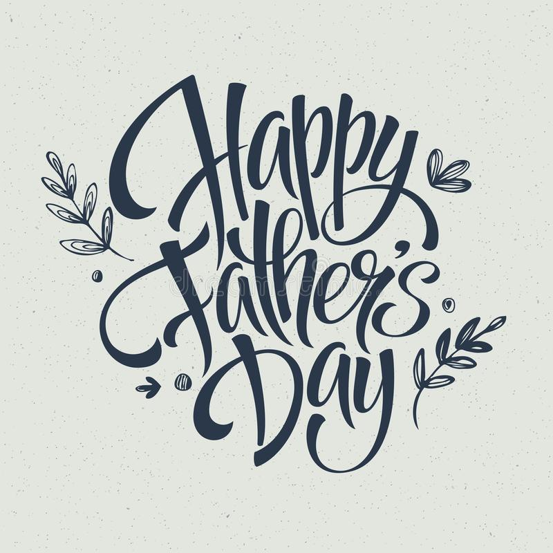 Kartka z pozdrowieniami szablon dla ojca dnia wektor ilustracji