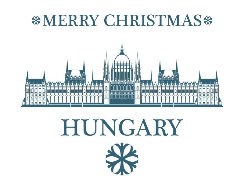 Kartka Z Pozdrowieniami Węgry royalty ilustracja