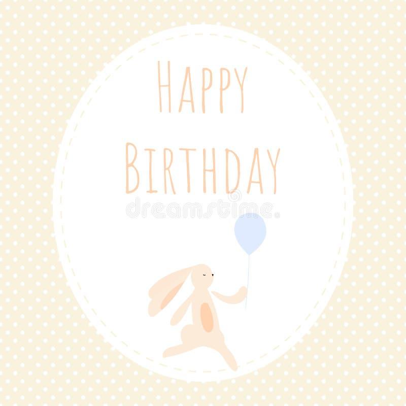 Kartka z pozdrowieniami z ślicznym królikiem ilustracji