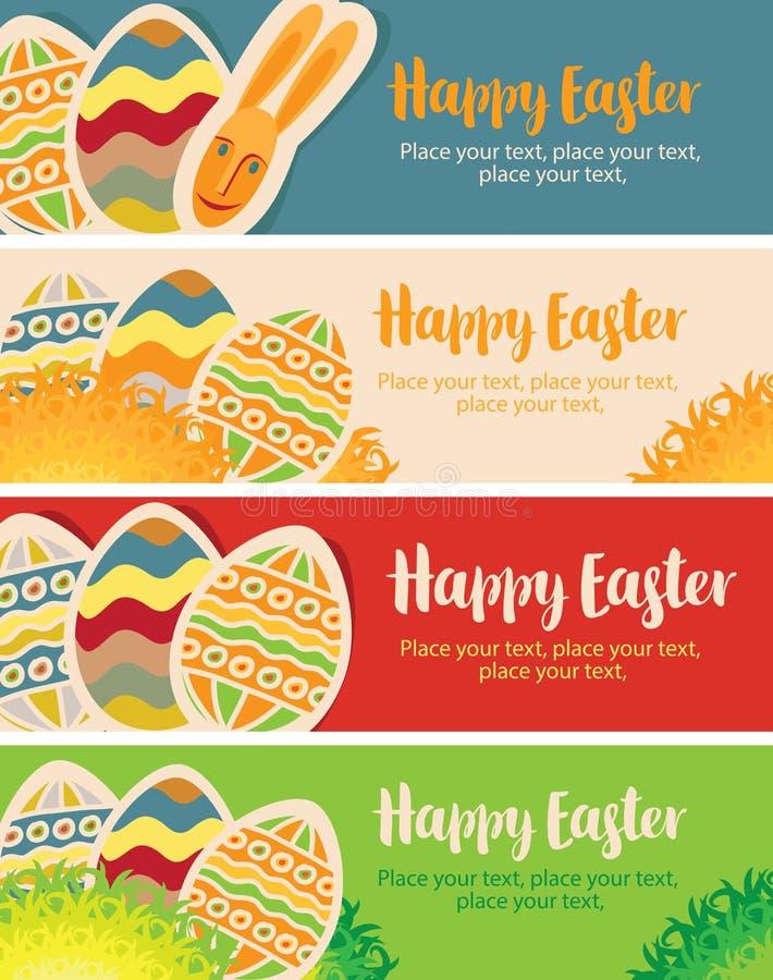Kartka z pozdrowieniami z Easter jajkami royalty ilustracja