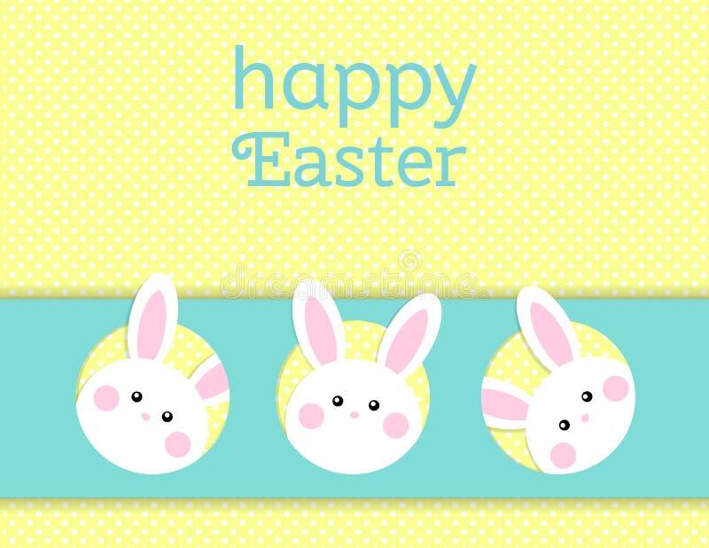 Kartka z pozdrowieniami z z białym Wielkanocnym królikiem Śmieszny królik Wielkanoc królik