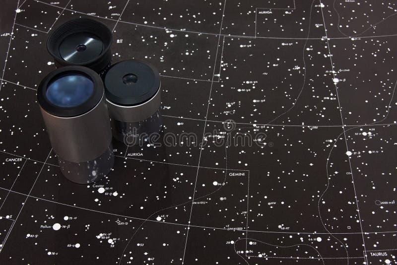 Kartlägga av stjärnor arkivfoto