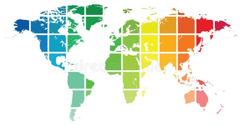 Kartlägga av världen royaltyfri illustrationer