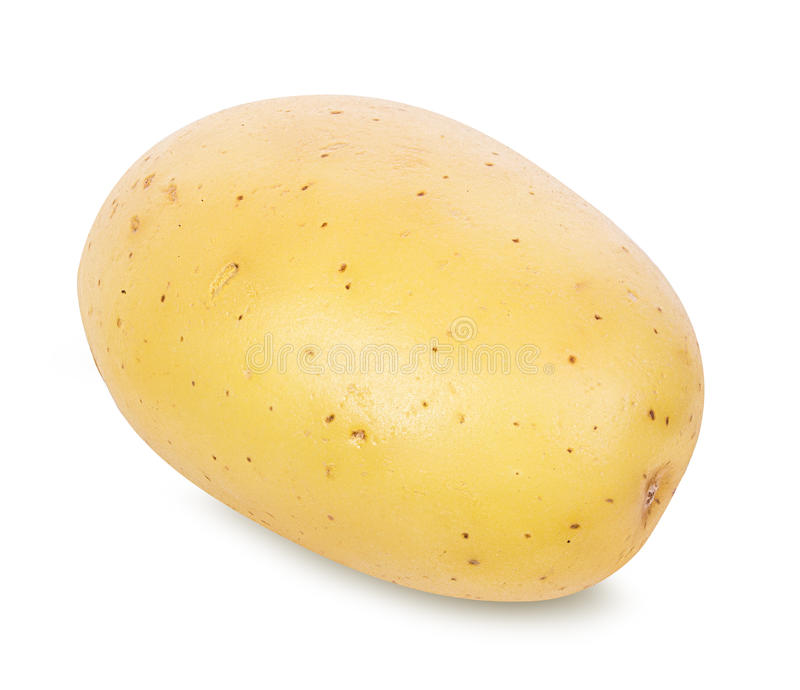 Kartoffel auf Weiß stockfotografie