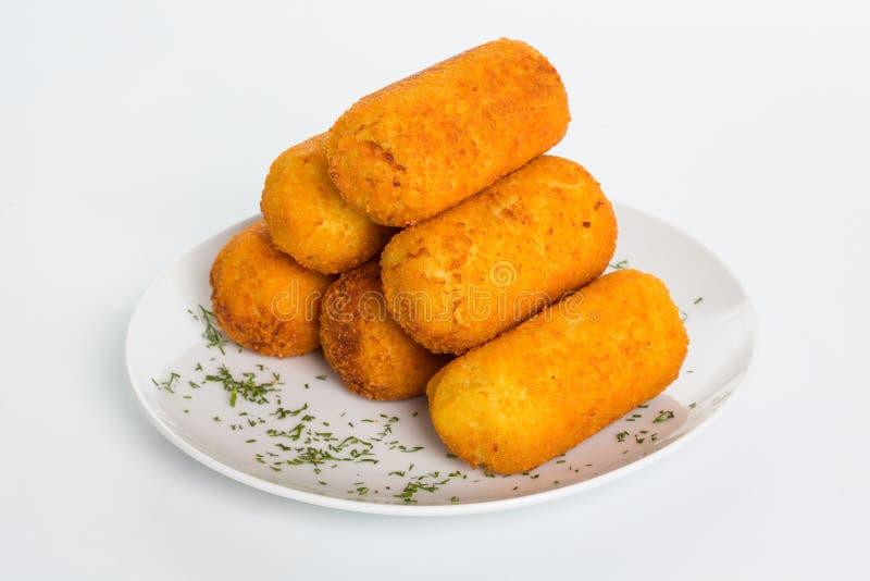 Kartoffel backt mit Fleisch zusammen stockfotos