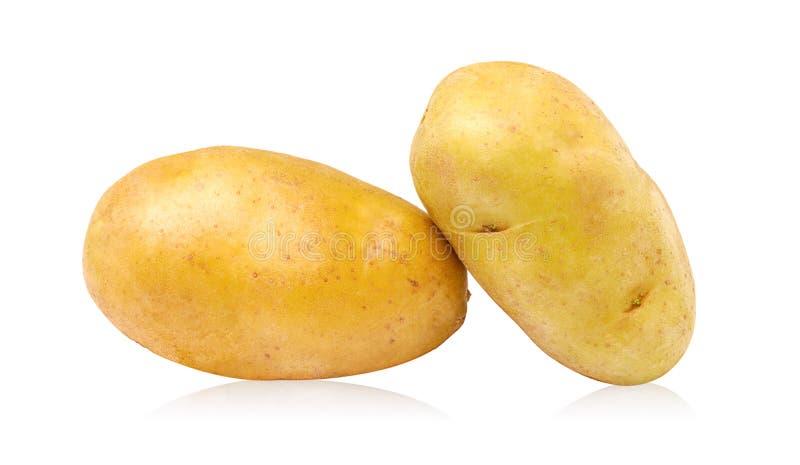 Kartoffel getrennt auf weißem Hintergrund stockbilder