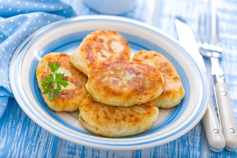 Kartoffel-Kuchen stockfotos