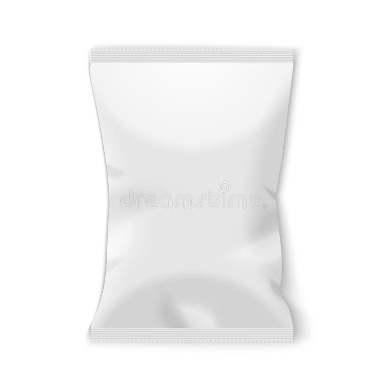 Kartoffelchip-Plastikverpackung lizenzfreies stockfoto