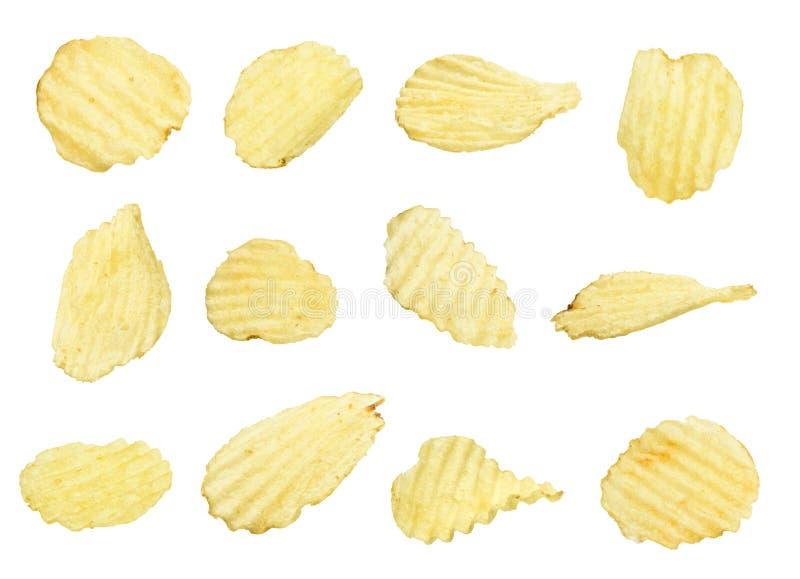 Kartoffelchips eingestellt lizenzfreie stockbilder