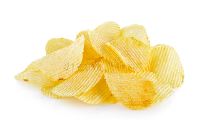 Kartoffelchips getrennt stockfoto