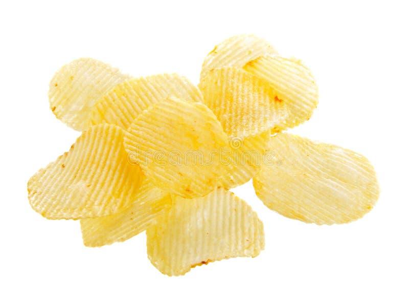 Kartoffelchips getrennt stockbild