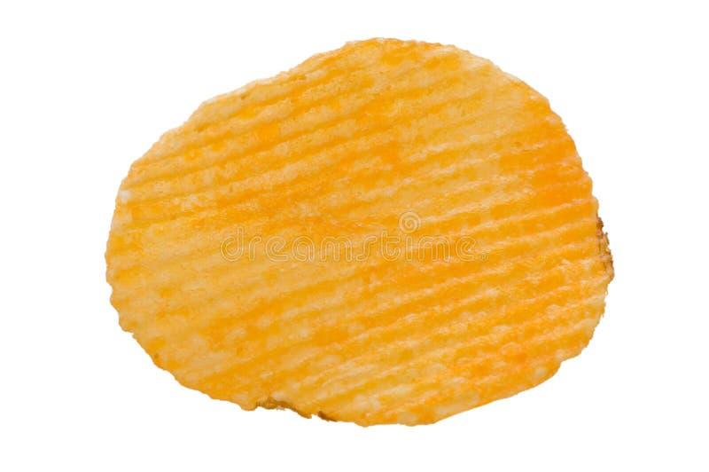 Kartoffelchips getrennt auf Weiß stockbilder