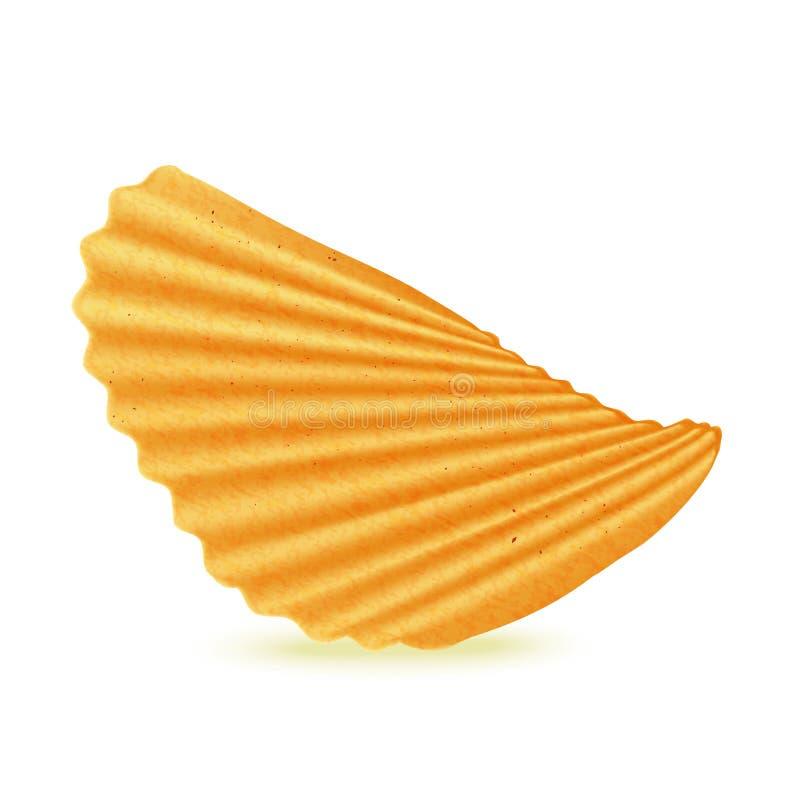 Kartoffelchips mit Rippen versehen vektor abbildung