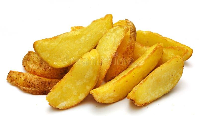 Kartoffelfischrogen auf Weiß lokalisiertem Hintergrund lizenzfreies stockbild