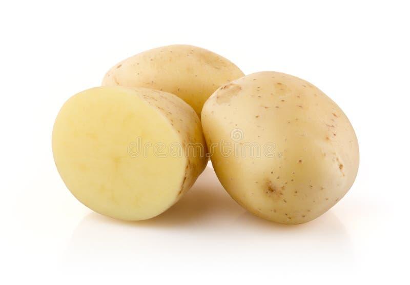Kartoffeln auf Weiß stockbilder