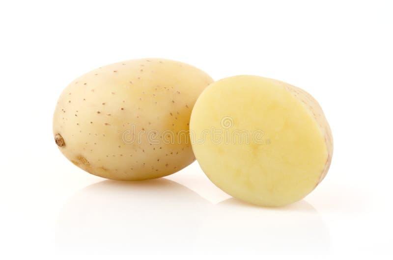 Kartoffeln auf Weiß lizenzfreies stockfoto