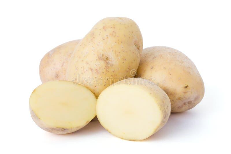 Kartoffeln getrennt auf weißem Hintergrund lizenzfreies stockfoto
