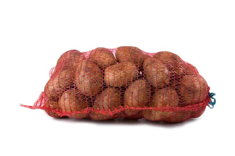 Kartoffeln im Beutel lizenzfreies stockbild