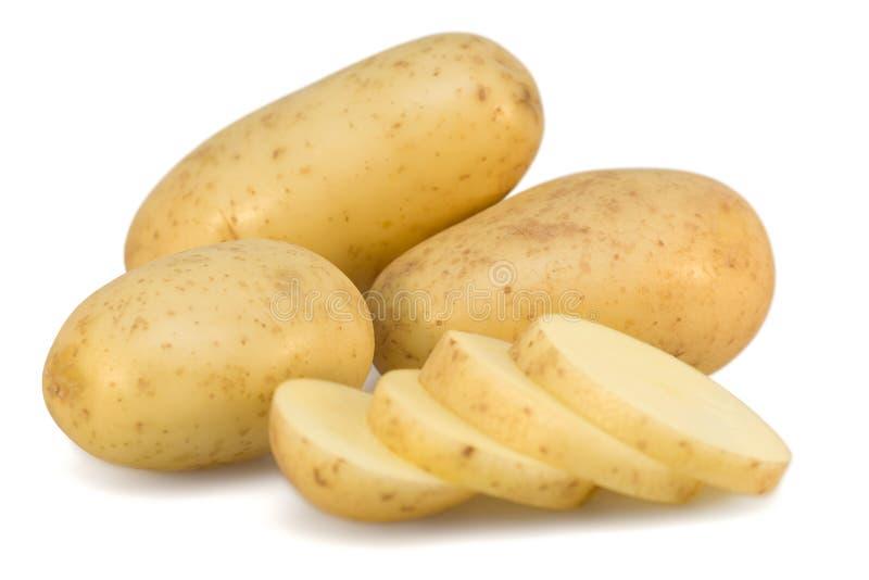 Kartoffeln und Scheiben stockbild