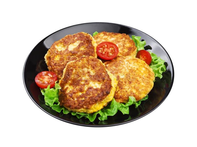 Kartoffelpfannkuchen lokalisiert auf weißem Hintergrund mit Beschneidungspfad lizenzfreies stockbild