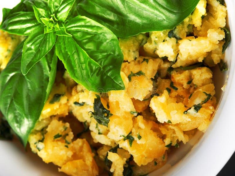 Kartoflana sałatka z ziele obraz royalty free