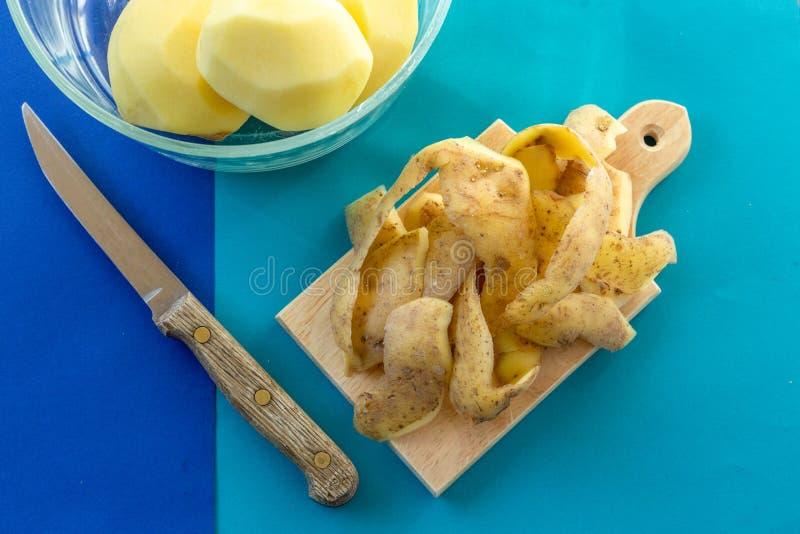 Kartoflane łupy obrazy royalty free