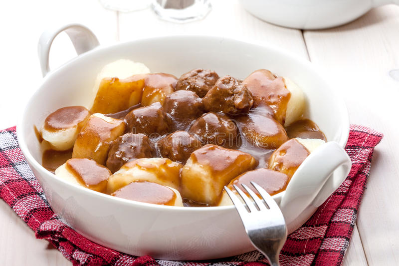 Kartoflane kluchy z mięsnymi klopsikami obraz royalty free