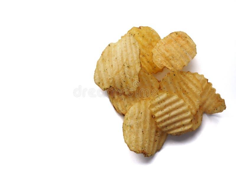 Kartoflani chipsy fotografia stock