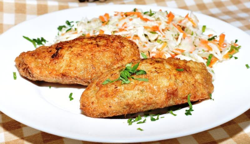 Kartoflani klopsiki garnirunek zdjęcia stock