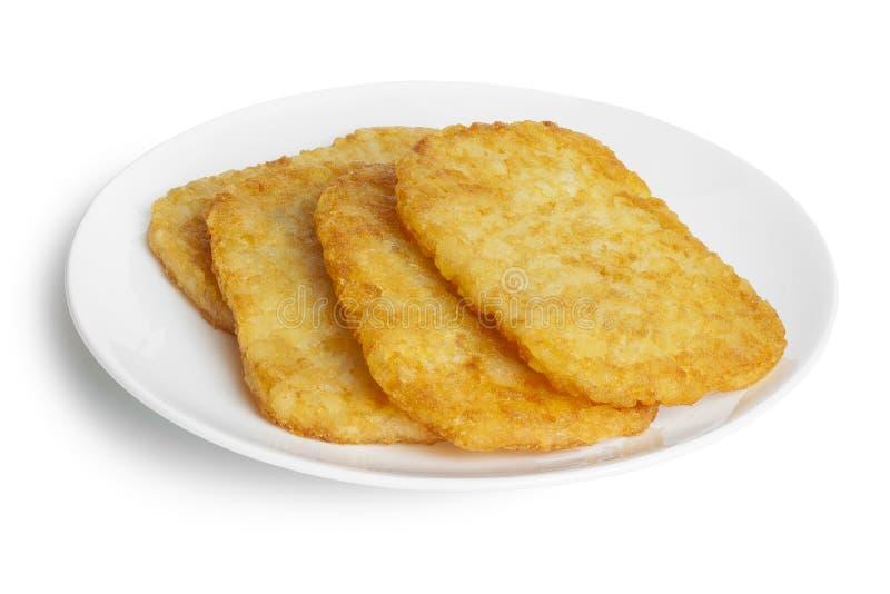 Kartoflani paszteciki na bielu zdjęcia royalty free