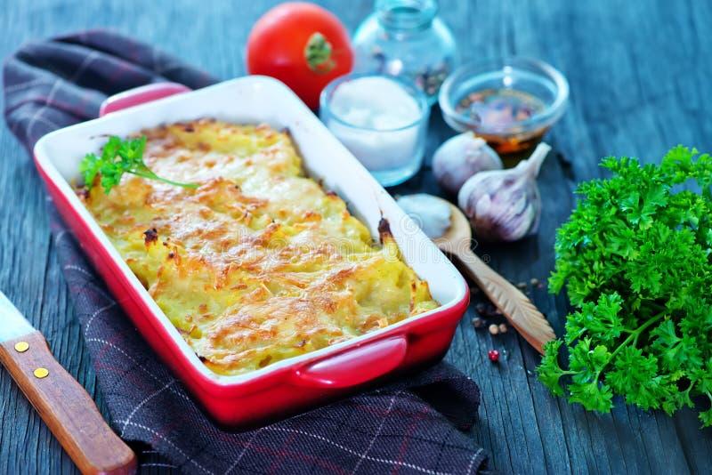 Kartoflany gratin obraz stock
