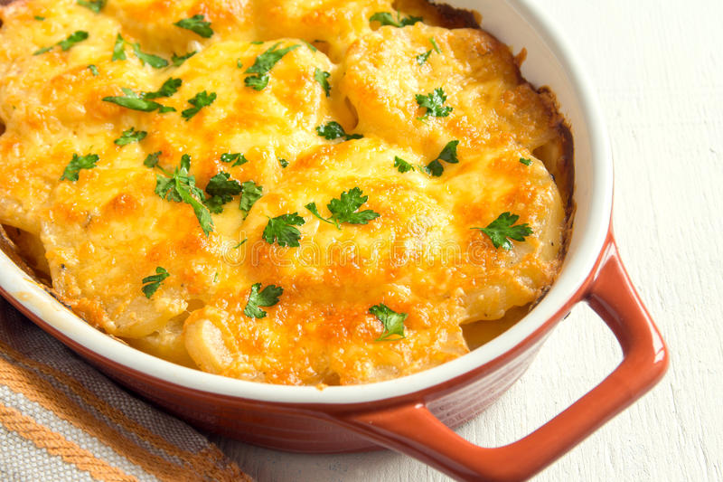 Kartoflany gratin zdjęcie stock