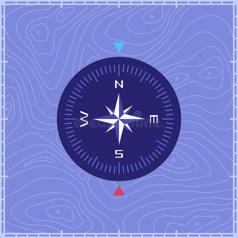 Kartograficzny kompas ilustracji