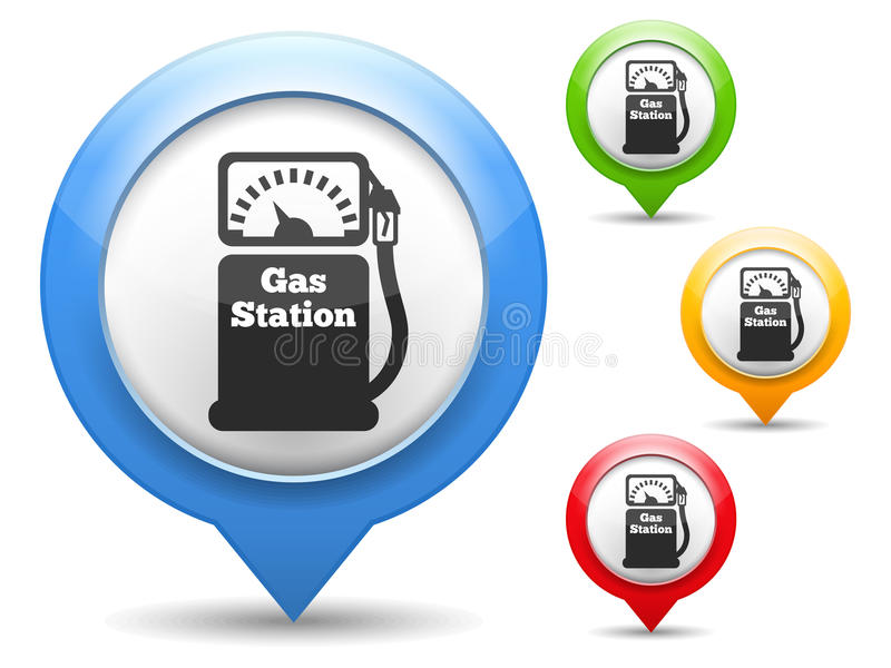 Benzynowej staci ikona ilustracji