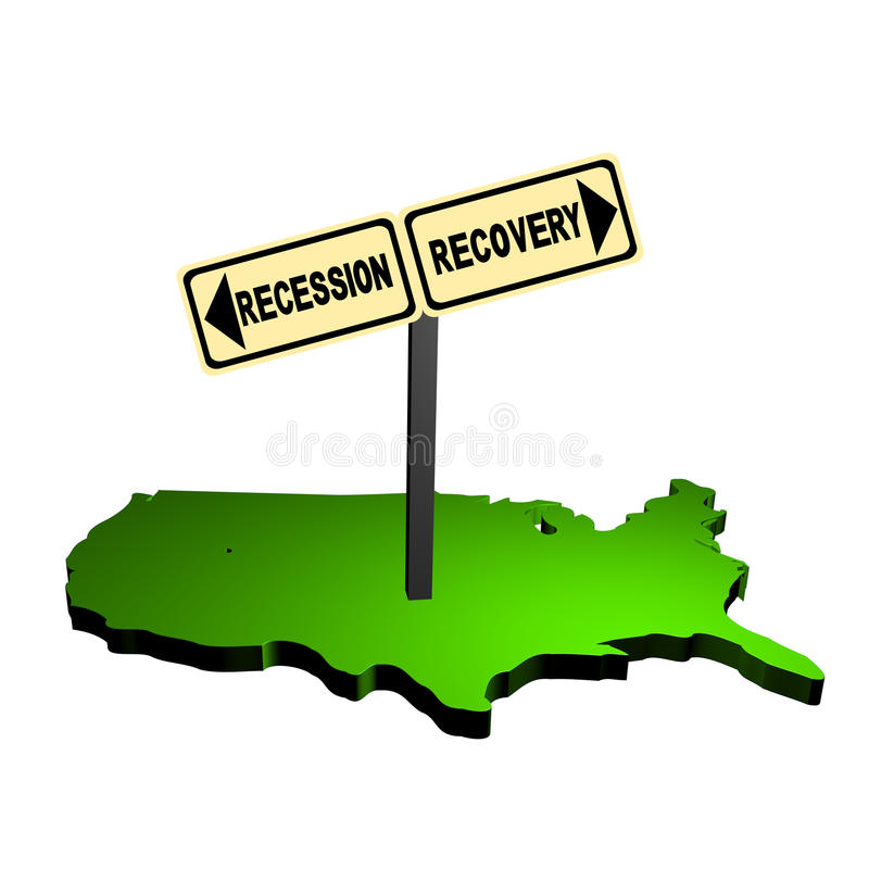 kartografuje recesi wyzdrowienia znaka usa ilustracji