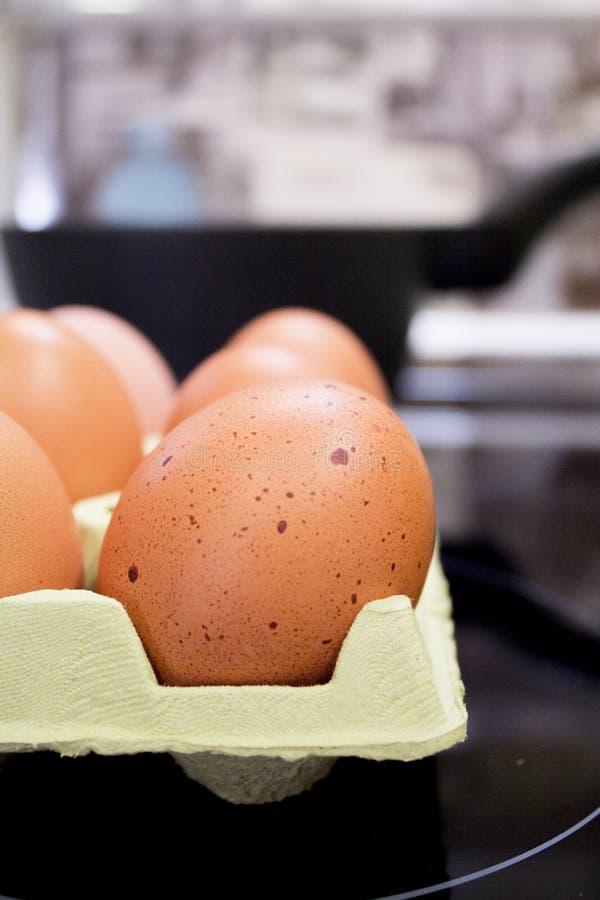 kartonów jajka zdjęcia stock