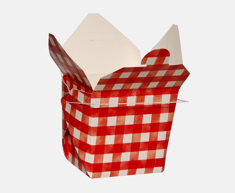 Karton 2 van het voedsel stock afbeelding