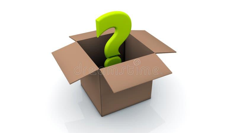 Download Karton i pytanie ilustracji. Ilustracja złożonej z pytanie - 28960525