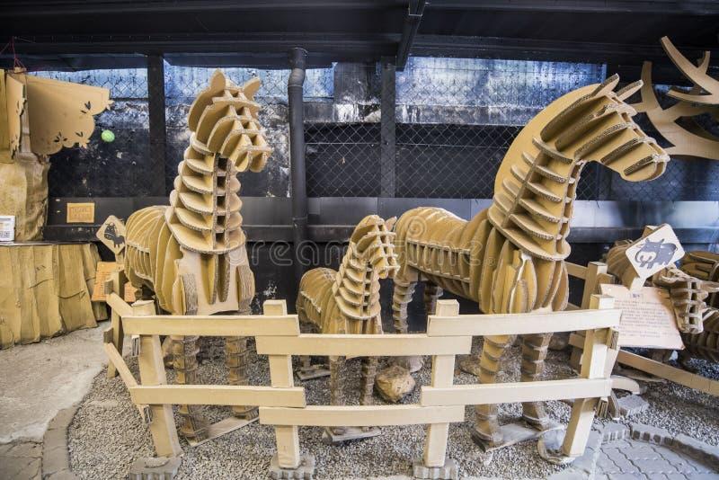 Karton-König Creativity Park Of Taichung stockfotografie