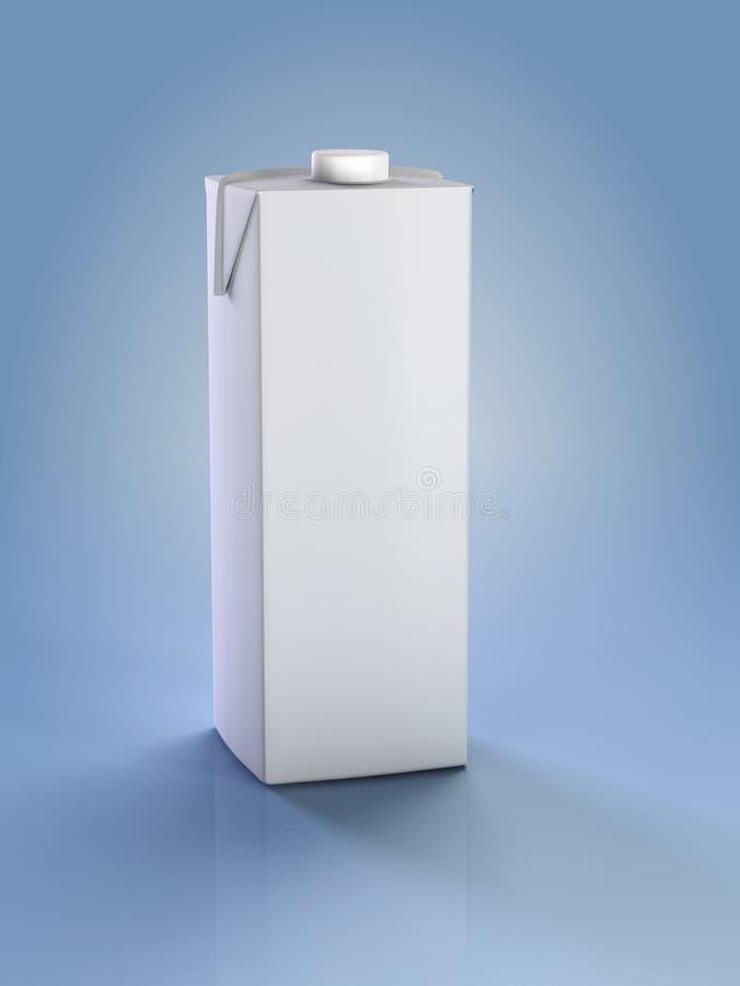 Karton Milch lizenzfreie abbildung