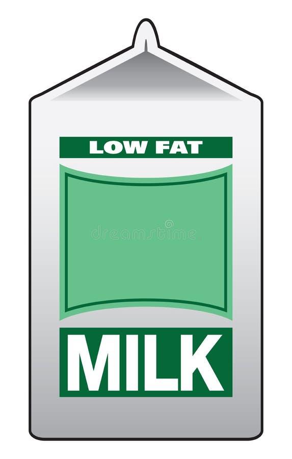 Karton Niskotłuszczowy mleko ilustracji