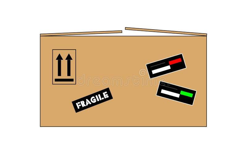 karton odizolowane pole ilustracji