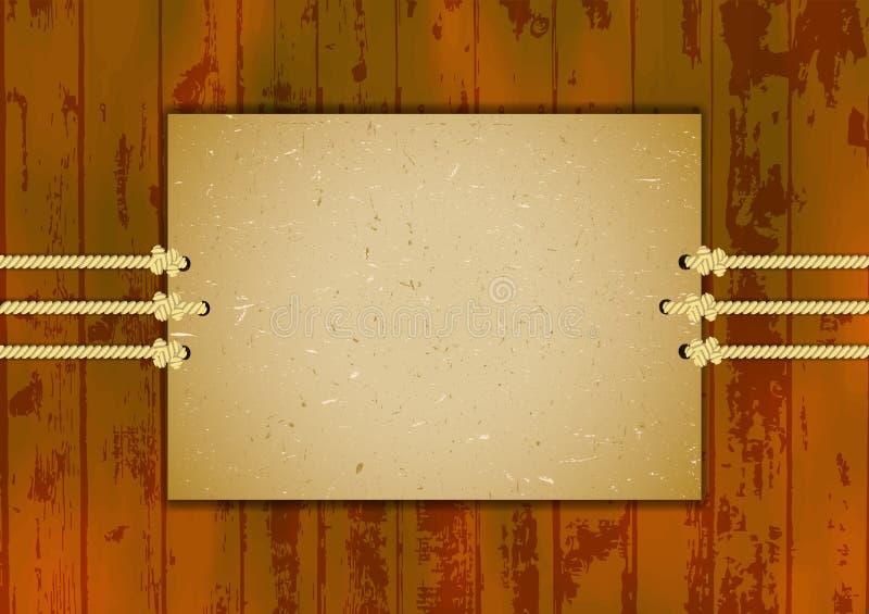 Karton rama na trzy arkanach royalty ilustracja
