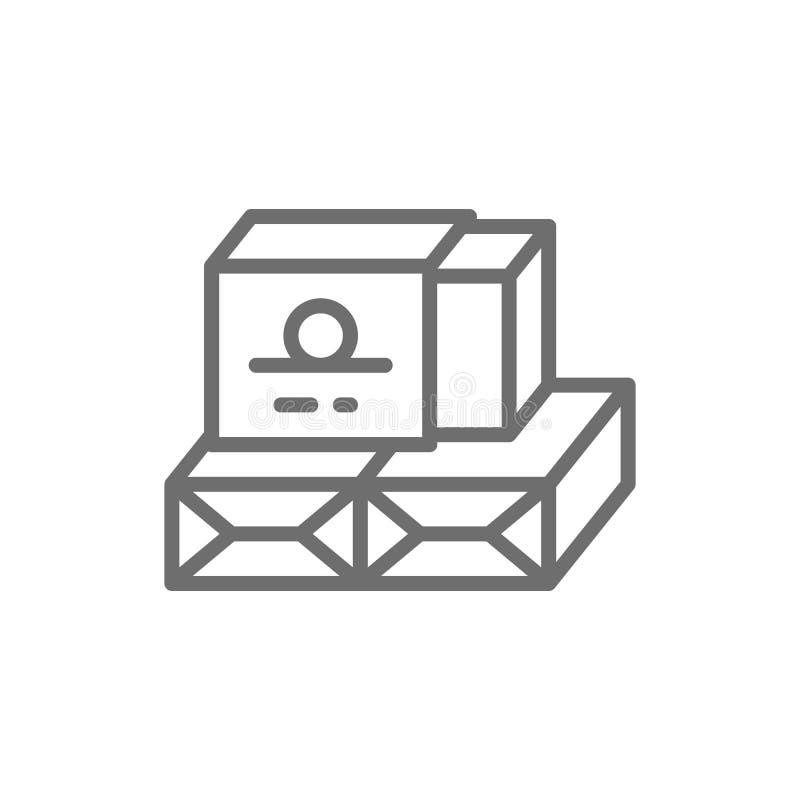 Karton verpakking voor boterlijnpictogram vector illustratie