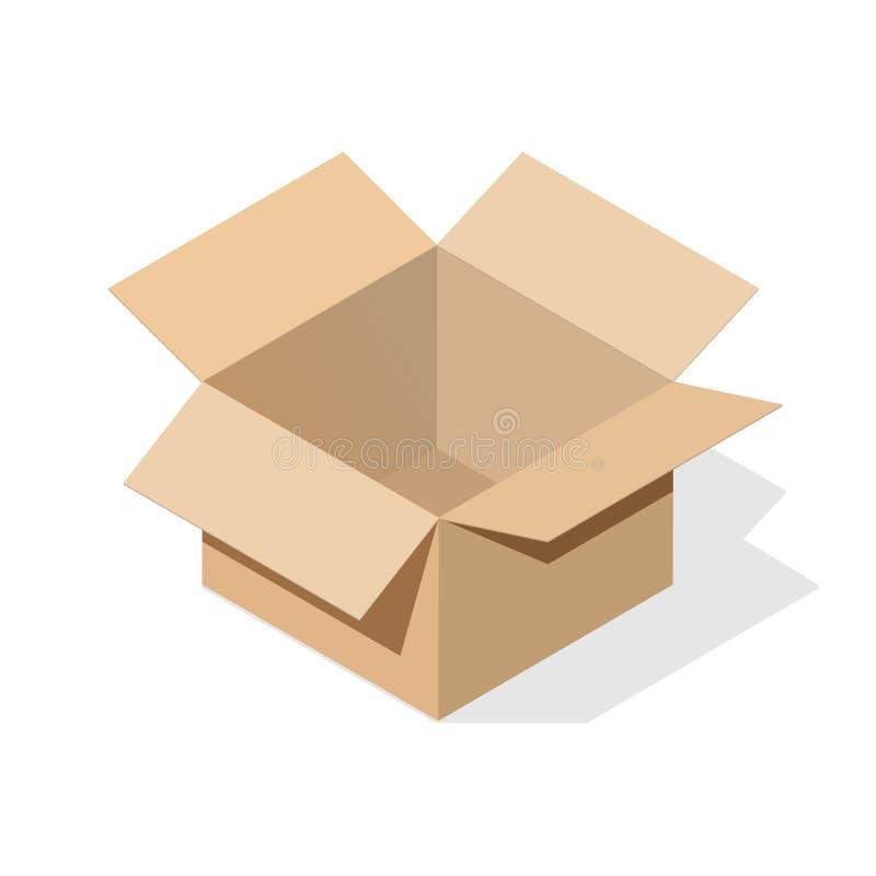 Karton z płaskim cieniem ilustracji