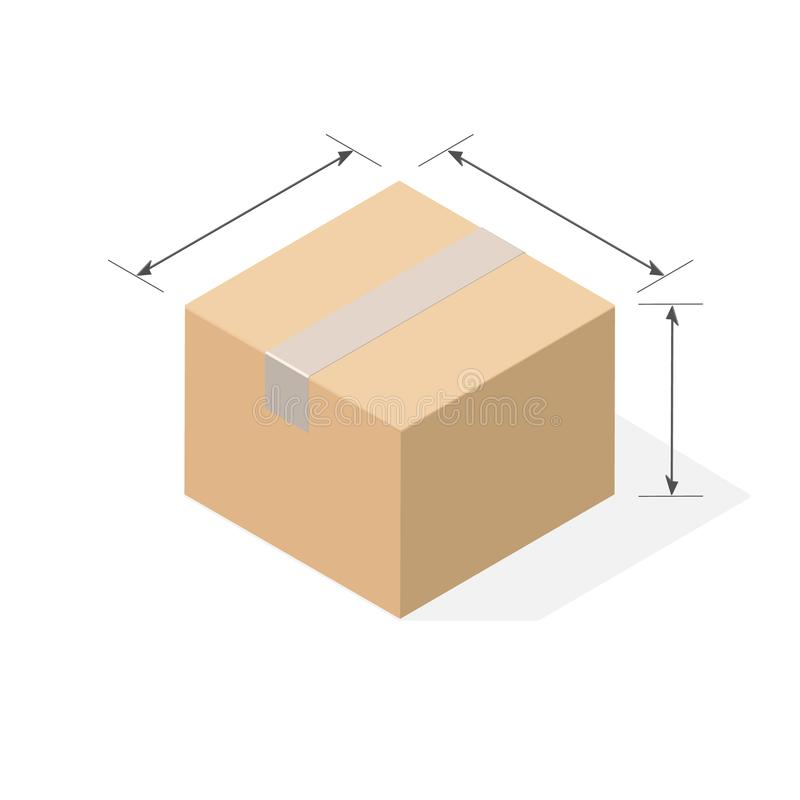 Karton z płaskim cieniem ilustracja wektor