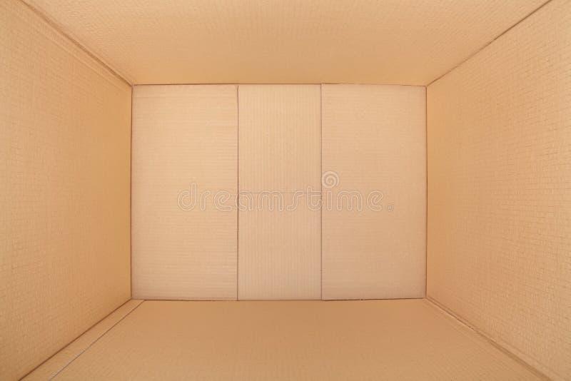 Kartondoos, binnenmening royalty-vrije stock afbeelding